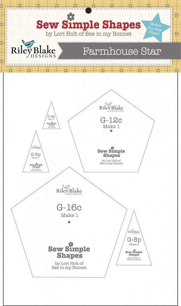 Farmhouse Star Template Set