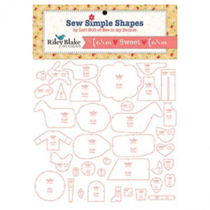 Farm Sweet Farm Sew Simple Shapes Template Set by Lori Holt