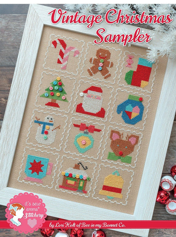 PRE-ORDER Vintage Christmas Sampler Cross Stitch Set