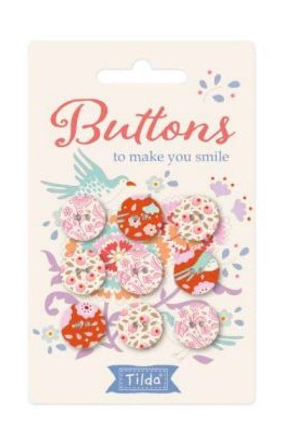Tilda Bird Pond Buttons
