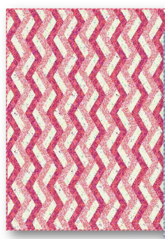 PRE-ORDER Ribbon Cotton Candy Quilt Kit featuring Pinkerville by Tula Pink