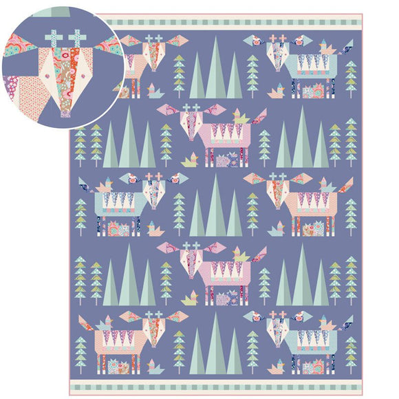 Mountain Holiday Quilt Pattern by Tilda featuring Bird Pond