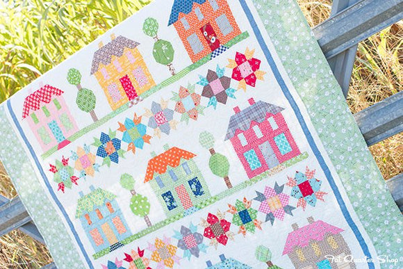 PRE-ORDER Farmhouse Lane Quilt Kit featuring Farm Girl Vintage by Lori Holt