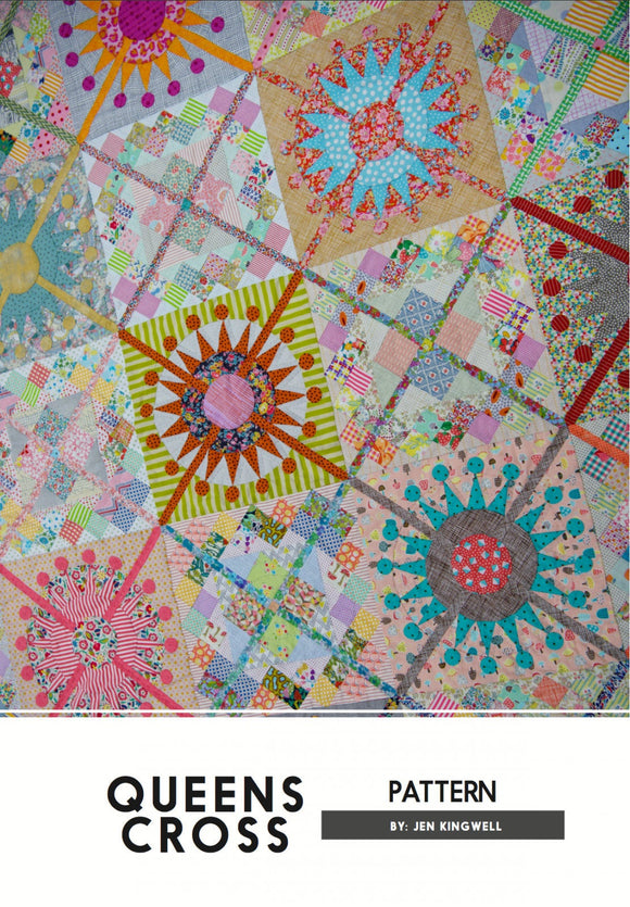Queens Cross Quilt Pattern by Jen Kingwell