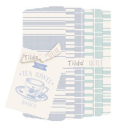 PRE-ORDER Tea Towel Basics FQ Bundle Blue Teal by Tilda