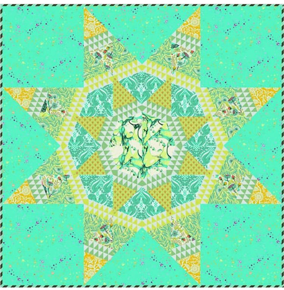 PRE-ORDER Radiant Frolic Quilt Kit featuring Pinkerville by Tula Pink