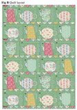 PRE-ORDER Vintage Teapot Green Quilt Kit Featuring Apple Butter by Tilda