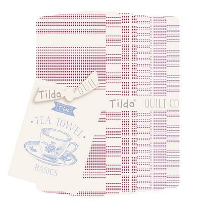 PRE-ORDER Tea Towel Basics FQ Bundle Red Plum by Tilda