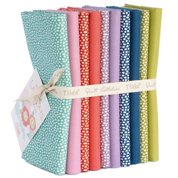PRE-ORDER LazyDays Trickles and Solids FQ Bundle by Tilda