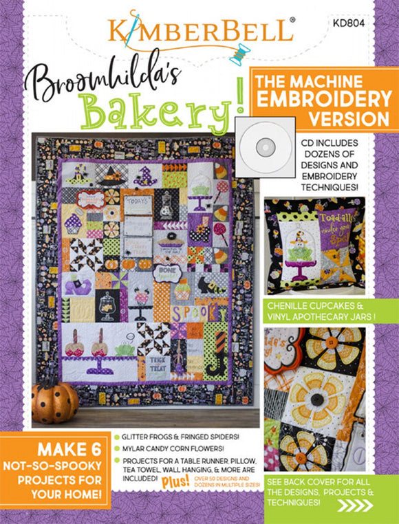 Broomhilda's Bakery Sewing Project Book W/Embroidery CD by Kimberbell Designs