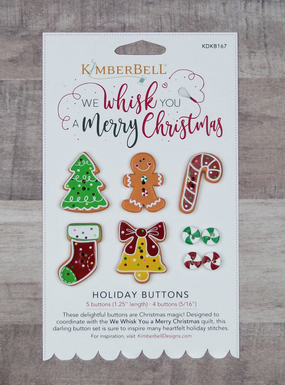 We Whisk You A Merry Christmas Holiday Buttons by Kimberbell Designs