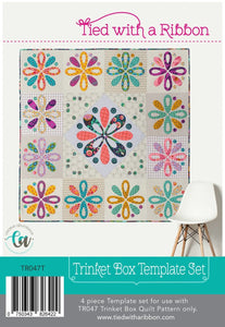 PRE-ORDER Trinket Box Quilt Pattern Set