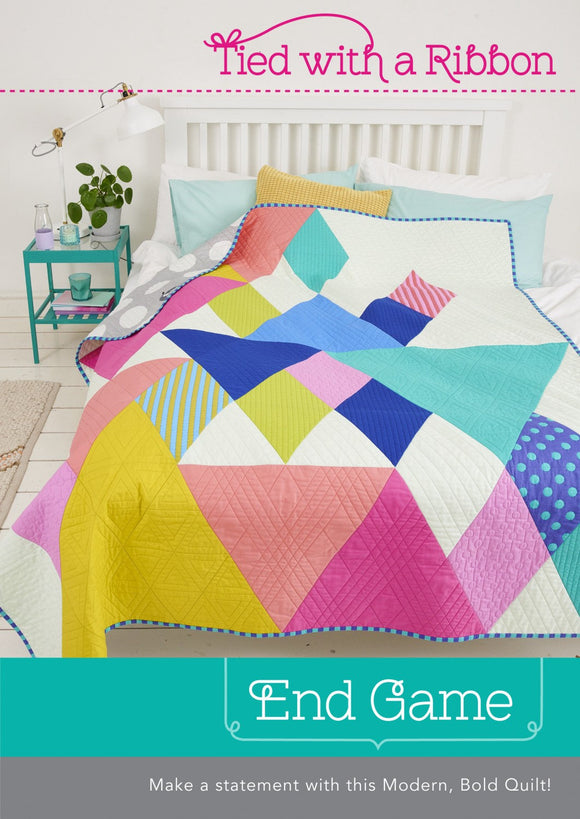 PRE-ORDER End Game Quilt Kit featuring Tula Pink Solids