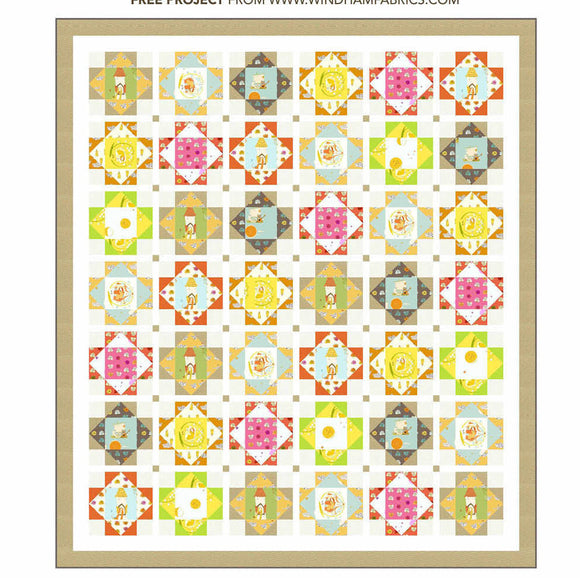 PRE-ORDER Storybook Castle Quilt Kit featuring Far Far Away 2 by Heather Ross