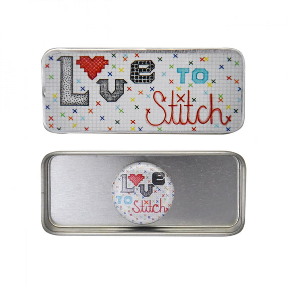 Love To Stitch Magnetic Needle Tin