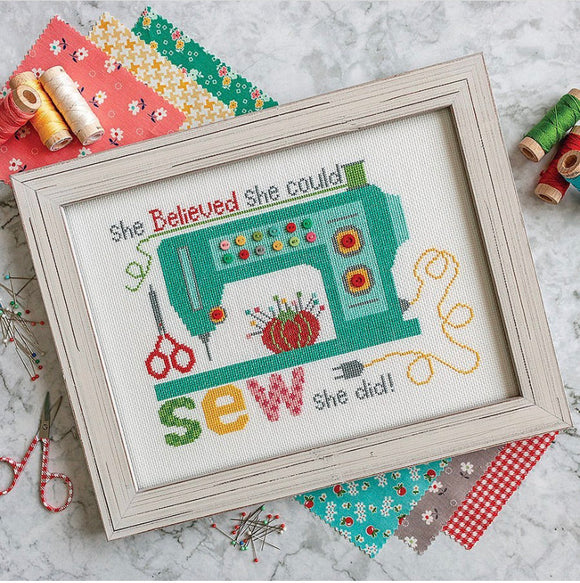 PRE-ORDER Sew She Did Cross Stitch Kit by Lori Holt