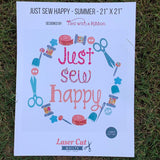 Just Sew Happy Summer Quilt Kit featuring Tula Pink