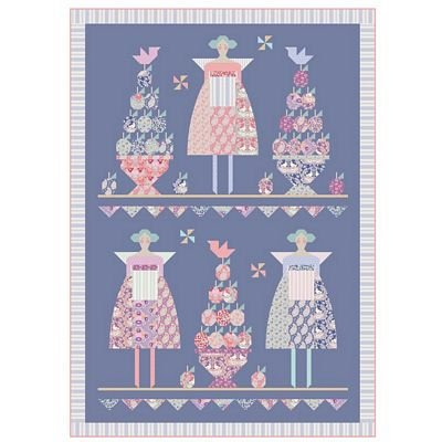 PRE-ORDER Plum Party Quilt Pattern featuring Plum Garden by Tilda