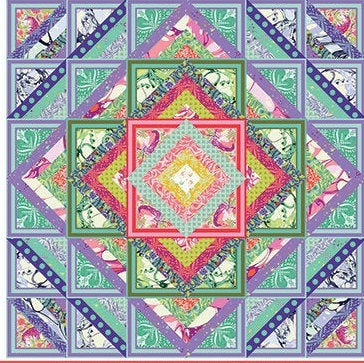 NEW Rainbow Pinkerville Quilt Kit