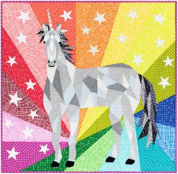 PRE-ORDER The Unicorn Abstractions Quilt Kit by Violet Craft