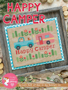 PRE-ORDER Happy Camper Cross Stitch Aurifloss Kit by Lori Holt