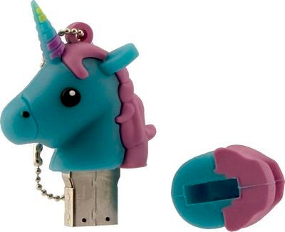 PRE-ORDER Tula Pink USB Unicorn Blue 16 gb