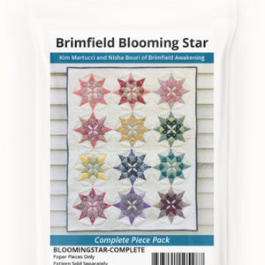 NEW Blooming Star Quilt Complete Paper Piece Set by Brimfield Awakening