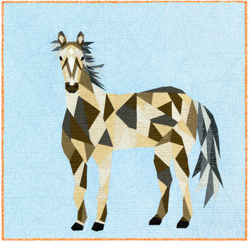 PRE-ORDER The Horse Abstractions Quilt Kit by Violet Craft