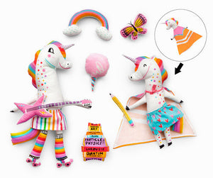 Magical Rainbow Unicorns Sewing Panel by Hello Lucky