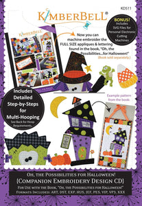 Oh the Possibilities for Halloween Companion Machine Embroidery CD by Kimberbell Designs