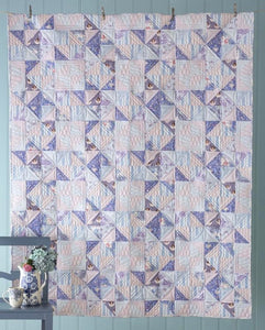 Soft Star Lilac Quilt Kit featuring Old Rose by Tilda