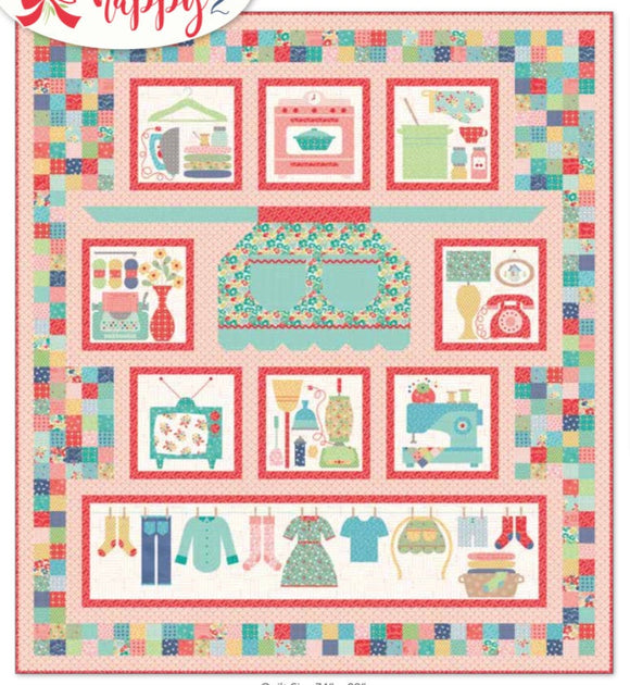 PRE-ORDER Vintage Housewife Quilt Kit by Lori Holt