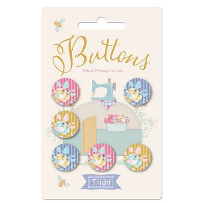 PRE-ORDER Happy Camper Buttons by Tilda