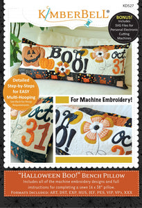 Halloween Boo! Bench Pillow Machine Embroidery CD by Kimberbell Designs