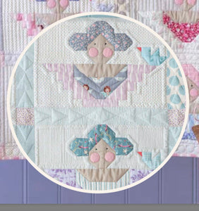 Scrap Angel Teal Quilt Kit featuring Old Rose by Tilda