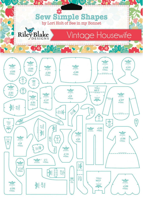 PRE-ORDER Vintage Housewife Sew Simple Shapes Template Set by Lori Holt