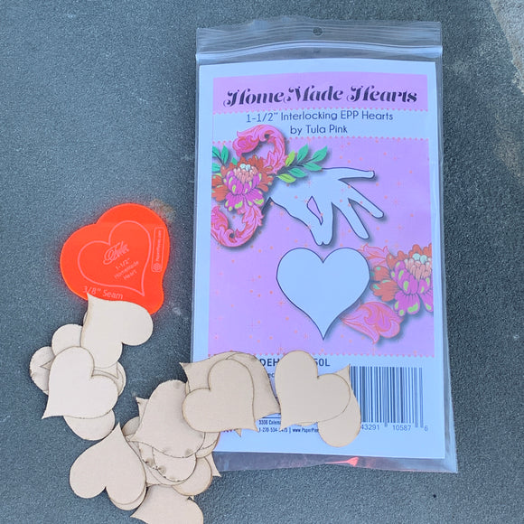 HomeMade Heart Large Paper Piece Kit by Tula Pink