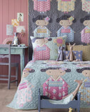 PRE-ORDER Kimono Girl Grey Quilt Kit featuring Happy Camper by Tilda