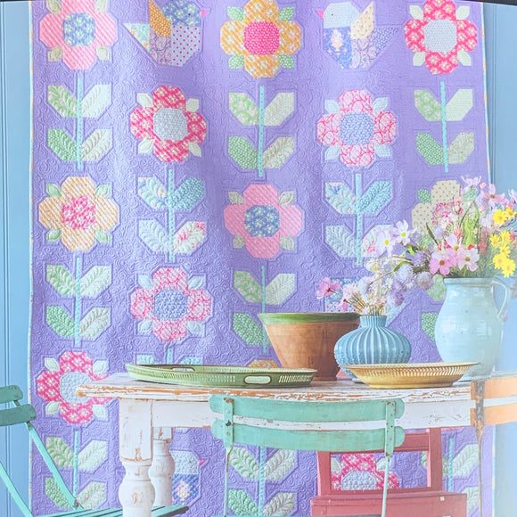 PRE-ORDER Flower Meadow Quilt Kit featuring Happy Camper by Tilda