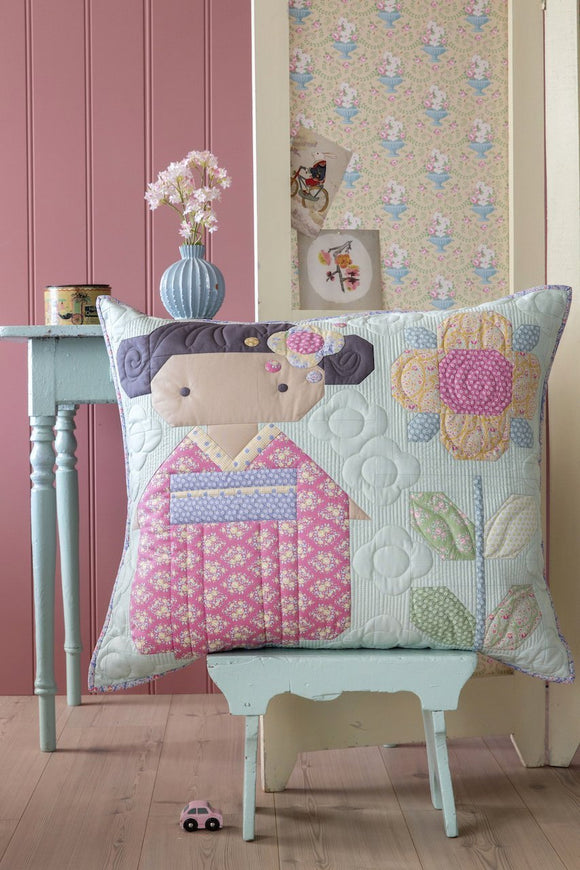 PRE-ORDER Kimono Girl Pillow Kit featuring Happy Camper by Tilda