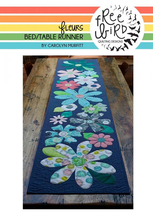 NEW Fleurs Table Bed Runner Pattern Set