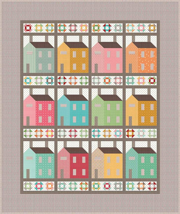 PRE-ORDER Village Quilt Kit by Lori Holt featuring Prim