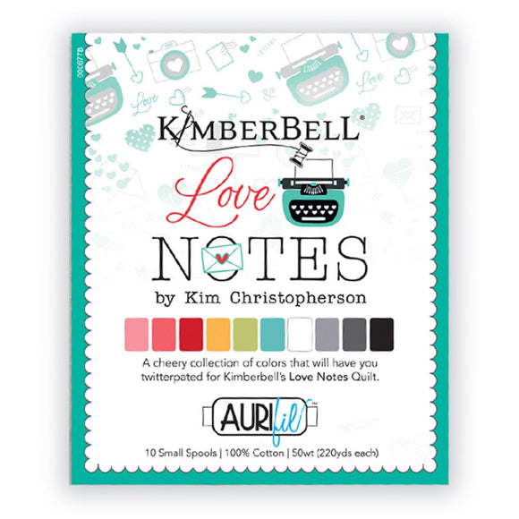 PRE-ORDER Love Notes Aurifil Thread Collection by KimberBell