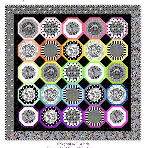 PRE-ORDER Daybreak Quilt Kit featuring LineWork by Tula Pink
