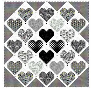 PRE-ORDER Retro Hearts Quilt Kit featuring LineWork by Tula Pink