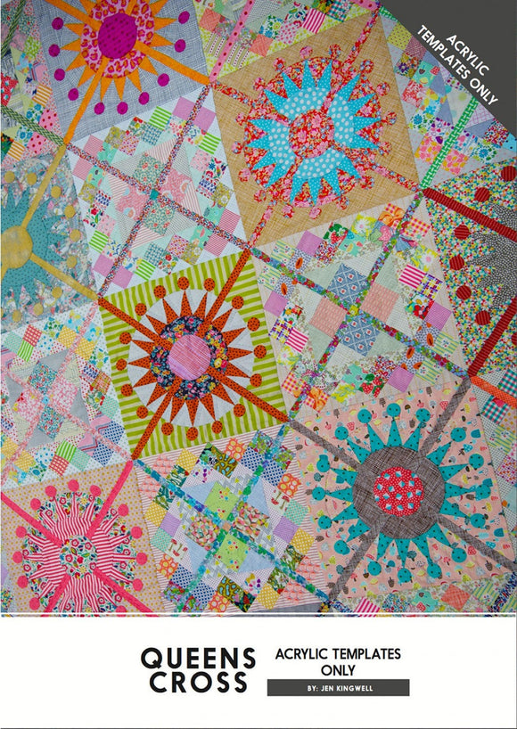 Queens Cross Pattern and Acrylic Templates by Jen Kingwell