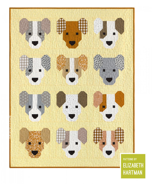 PRE-ORDER The Puppies Small Quilt Kit by Elizabeth Hartman