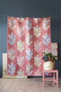 PRE-ORDER Leaf Quilt Kit in Terracotta featuring Maple Farm by Tilda