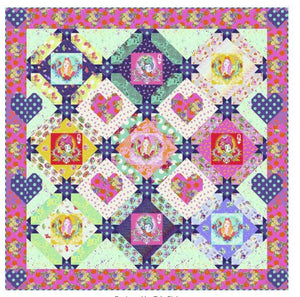 PRE-ORDER Queen Of Hearts Quilt Kit featuring Curiouser & Curiouser by Tula Pink