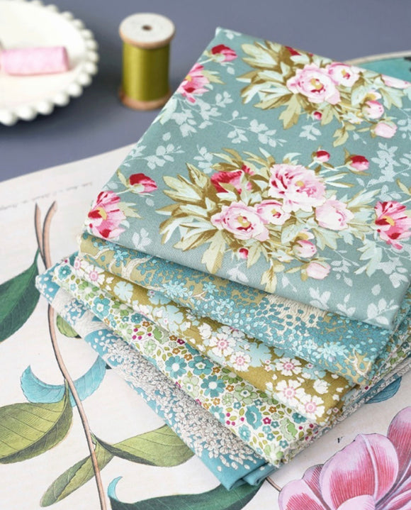 PRE-ORDER Woodland Green Sage FQ Bundle by Tilda